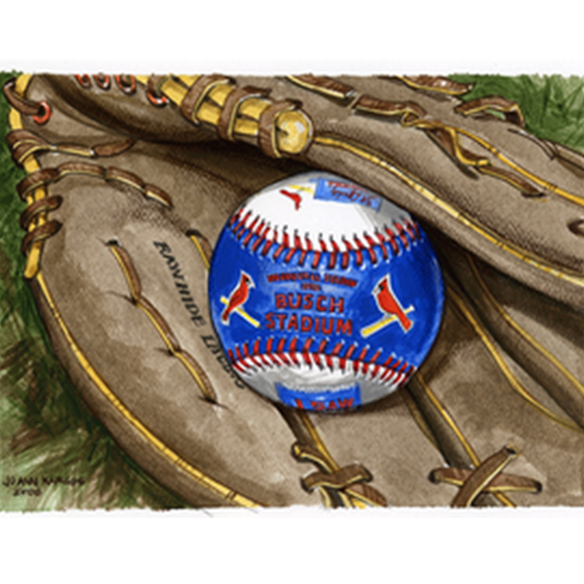3-baseball-glove-acrylic-wash-11-x-14-from-first-group-of-images