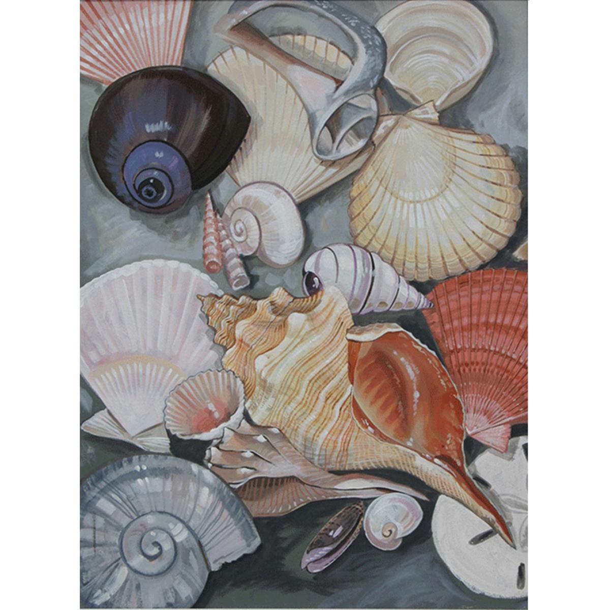 5-seashells-acrylic-30-x-40