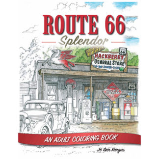 route 66 splendor coloring book